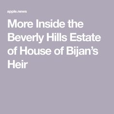 More Inside the Beverly Hills Estate of House of Bijan's Heir The Beverly, Beverly Hills, Area Rug Placement, The Heirs, Architectural Digest, Kitchen, House, Cooking, Home