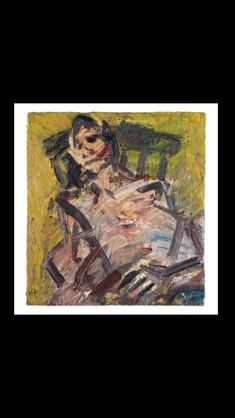 - Frank Auerbach - Ruth Bromberg Seated, 1992 - Oil on canvas - 66 x 61,9 cm