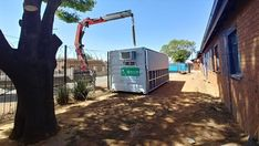 Deploying Chronic Medicine Dispensing and Distribution unit. Proudly produced by Topshell Containers, South Africa. South Africa, Clinic, Medicine, Fair Grounds, Container, The Unit, Ship, Fun, Travel