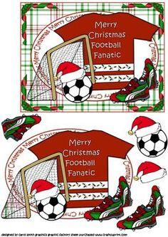 Christmas football fanatic on Craftsuprint - Add To Basket!