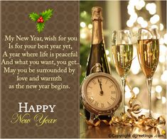 On New Year's Eve, send your warm wishes for a very happy New Year ahead.