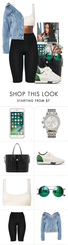 """Untitled #2370"" by txoni ❤ liked on Polyvore featuring Nixon, MCM, Balenciaga, Yeezy by Kanye West, Chicnova Fashion and Topshop"