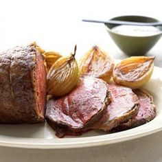 Roast Beef with Horseradish Sauce (1/2 the horseradish sauce recipe)