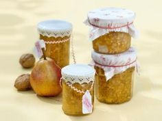 Walnut and pear jam - Gelee Ideen Chutneys, Healthy Eating Tips, Healthy Nutrition, Oven French Toast, Cooking Jam, Indian Desserts, Vegetable Drinks, Great Desserts, Pickling