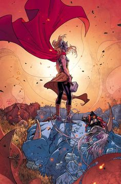 Marvel Thor by Jason Aaron & Russell Dauterman Lady Sif, Lady Thor, Marvel Comic Character, Marvel Characters, Character Art, Fun Comics, Marvel Dc Comics, Hulk, Thor Series
