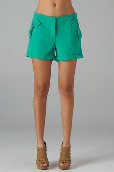 Bow Pocket Crepe Shorts...love.