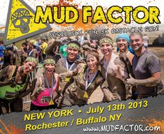 New York 2013 Mud Factor Seriously Fun 5k Obstacle Run Flyer