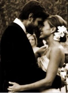 Mariska Hargitay and Peter Hermann. I hope to look as happy as she does on my wedding day
