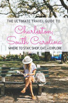 The Ultimate Travel Guide to Charleston, SC! Where to stay, shop, eat, and explore. Charleston Sc, Charleston South Carolina, North Carolina, Weekender, Girls Getaway, South America Travel, North America, Road Trip Usa, Usa Roadtrip