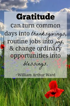 Gratitude can turn common days into thanksgivings - quote Gratitude Quotes, Attitude Of Gratitude, Gratitude Ideas, Grateful Quotes, Powerful Quotes, Uplifting Quotes, Inspirational Quotes, Inspiring Sayings, Thankful And Blessed