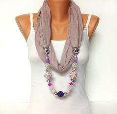 pink jewelry scarf dusty pink scarf with adorable beads