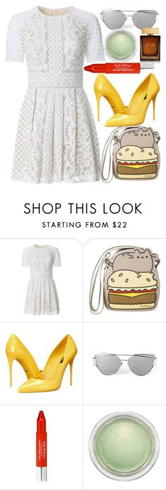 """""""Best Burgers"""" by egordon2 ❤ liked on Polyvore featuring Lover, Pusheen, Dolce&Gabbana, Trish McEvoy, MAC Cosmetics, yellow, red, GREEN, burgers and burger"""