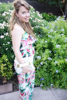 Anthropologie Floral Jumpsuit | Beauty and the Binky blog