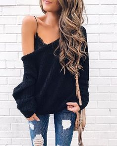 I can't change☯ — thechic-fashionista: Sweater Fashion Mode, Look Fashion, Fashion Outfits, Womens Fashion, 90s Fashion, Fashion Styles, Fashion Boots, Latest Fashion, Fall Winter Outfits
