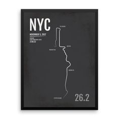 New York City Marathon Print, Free Personalization, Unique Runner Gift, Runners Gifts for Men, Runners Gift Ideas, NYC Poster, Runner's Gift Ideas, NYC Marathon Map, New York City Marathon Gear, New York City Marathon Products