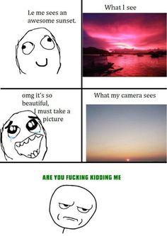 Derfor tager man ikke billeder af en solnedgang... man nyder den bare!