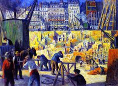 Building Site,1912 by Maximilien Luce (French 1858-1941)