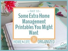 Everyone needs different things for their home management binder. These home management printables might be useful additions to yours.