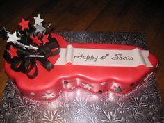21st Birthday Key Cake