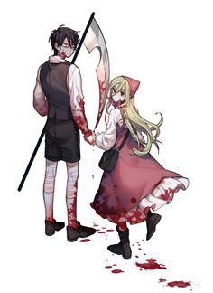 satsuriku no tenshi Bild♡ Anime Angel, Anime Love Couple, Cute Anime Couples, Manga Anime, Anime Art, Angel Of Death, Mad Father, Satsuriku No Tenshi, Natsume Yuujinchou
