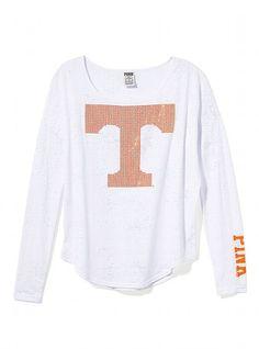 Victoria's Secret PINK University of Tennessee Bling Long-sleeve Drapey Tee #VictoriasSecret http://www.victoriassecret.com/pink/university-of-tennessee/university-of-tennessee-bling-long-sleeve-drapey-tee-victorias-secret-pink?ProductID=82756=OLS=true?cm_mmc=pinterest-_-product-_-x-_-x