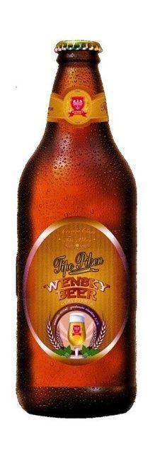 Cerveja Wensky Pilsen, estilo Bohemian Pilsener, produzida por Wensky Beer, Brasil. 5% ABV de álcool.