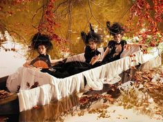 floating in the water, under an Autumn Tree...