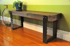 Hargrove Reclaimed Wood Bench by hautehabitats on Etsy, $450.00