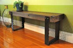 the HARGROVE Reclaimed Wood Bench by hautehabitats on Etsy