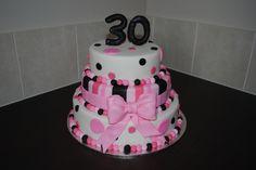 Bright 30th Birthday Cake