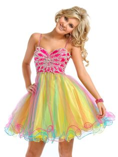 colorful prom dresses | High low split Prom Dresses pageant dress Party Time Formal Dress