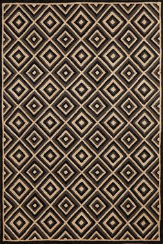 Carlton Diamond Charcoal 130147 Rug from the Outdoor Rugs collection at Modern Area Rugs Grey And Cream Rug, Ocean Rug, Area Rugs For Sale, Cheap Rugs, Home Decor Online, Hand Tufted Rugs, Modern Area Rugs, Discount Rugs, Contemporary Rugs