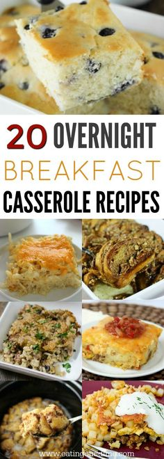 Overnight Breakfast Casserole Recipes – 20 Make Ahead Recipes You will love these overnight breakfast casserole recipes. 20 make ahead breakfast casserole recipes to make mornings a breeze. They are so delicious! Overnight Breakfast Casserole, Brunch Casserole, Vegetarian Casserole, Pioneer Woman Breakfast Casserole, Cheap Casserole Recipes, Christmas Breakfast Casserole, Egg Casserole, Breakfast Dishes, Healthy Breakfast Recipes