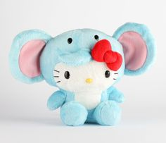 "Hello Kitty 8"" Safari Plush: Elephant"