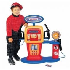 The Pavlov's gas station toy is a fun toy for children who enjoy cars, and enjoy playing outside. Children can wheel up their bikes, all terrain...