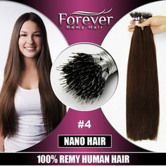 Best Price Beauty Women HairFull Cuticle 20in 1g/s #4 no chemical high quality hair extension nano tip hair