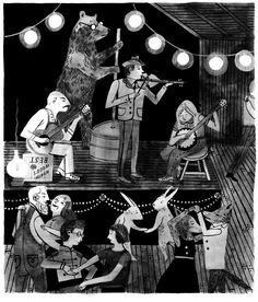 """""""Under Wildwood,"""" a children's book by Decemberists frontman Colin Meloy, illustrated by Meloy's wife Carson Ellis"""