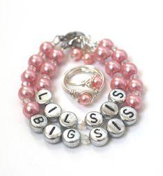 Bracelet Ring Infant Newborn Jewelry Pearl by WalnutFarmDesigns