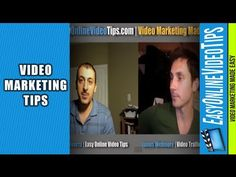 Online Video Marketing Tips With James Wedmore is short interview with that reveals online video marketing tips and suggestions for those getting started with online video including thing like what equipment to use and how to get more traffic from YouTube. http://www.EasyOnlineVideoTips.com/OnlineVideoMarketing
