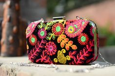 Shopo.in : Buy Hand Embroidered Clutch online at best price in New Delhi, India