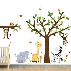 Amazon.com: Safari Jungle Pride Árbol ETIQUETAS de la comparación, la selva Pegatinas: bebe