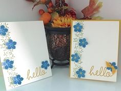 Simply Simple FLASH CARD 2.0 - Hello Cascading Flowers Card by Connie Stewart