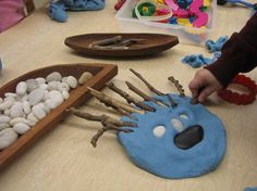 Playdough and loose parts
