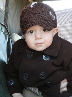 Custom Couture Toddler Football Newsboy Hat / Football Hat