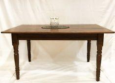 Reclaimed Wood Farm Table Reclaimed Wood Furniture, Solid Wood Furniture, Rustic Furniture, Dining Table In Kitchen, Dining Tables, Coffee Tables, Home Decor Signs, Custom Pillows, Rustic Wood