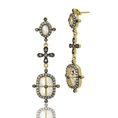 Faceted Long Cage Drop Earrings - FREIDA ROTHMAN another holiday fave