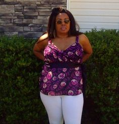 Purple Princess Plus Size Tank Top With Attached Belt, Size 22 by Lane Bryant #LaneBryant #TankCami