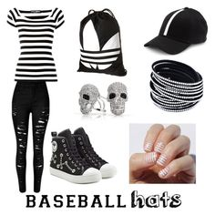"""""""Baseball Cap"""" by lizf99 ❤ liked on Polyvore featuring Gents, Dolce&Gabbana, Moschino, adidas, Bling Jewelry, baseballcap and baseballhats"""