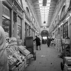 Inside Covent Garden market, 1963