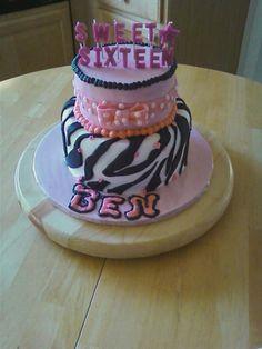 Sweet 16 practical joke cake for a boy